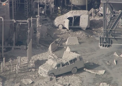 photo of refinery accident scene in Torrance, CA